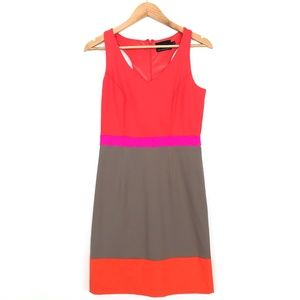 Cynthia Rowley | Color Block Orange Pink Dress